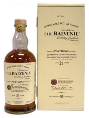 Balvenie 21yr Portwood Single Malt 43% ABV 750ml