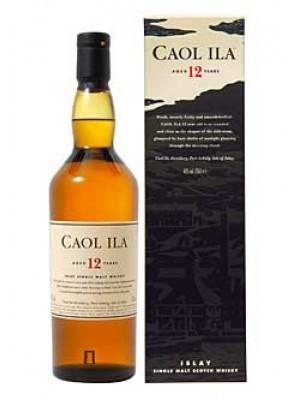 Caol Ila12yr Islay Single Malt Scotch Whisky 43% ABV 750ml