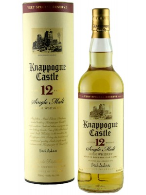 Knappogue 12 Year Single Malt Irish Whiskey 40% Alc by Vol 750ml
