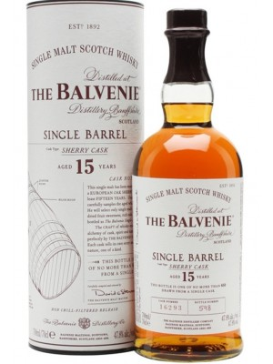 Balvenie 15yr Single Barrel Single Malt 47.8% ABV  750ml