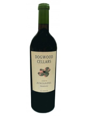 Dogwood Cellars Mendocino Zinfandel 2004 14.8% ABV 750ml