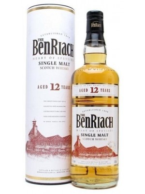 Benriach 12yr  Heart of Speyside Single Malt 46% ABV 750ml