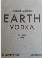 Earth Vodka Gluten Free 40% ABV 750ml