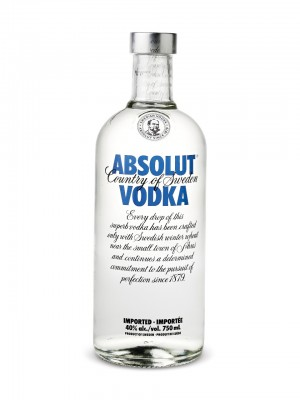 Absolut  Vodka Sweden  40% ABV 750ml