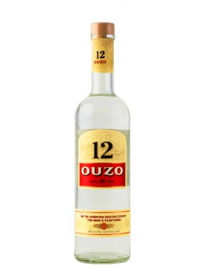 Ouzo  12 from Greece 40% ABV 750ml