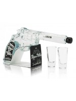 Hijos de Villa Tequila Blanco Pistol shaped with 2 shot glasses 40% ABV 200ml