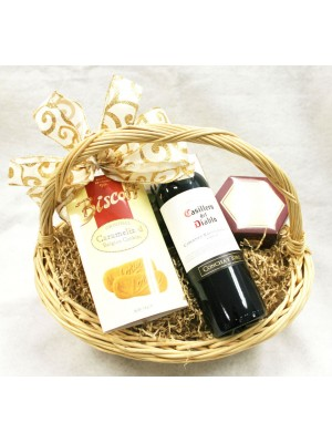 1-BH18 Single Bottle Cabernet Sauvignon Basket