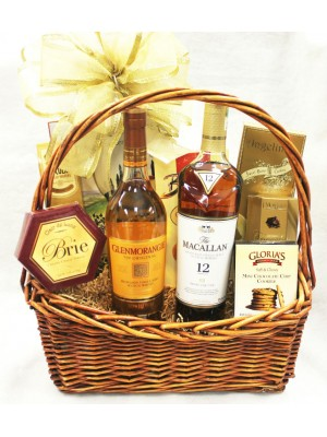 12-BH18 Two Bottle Scotch Basket