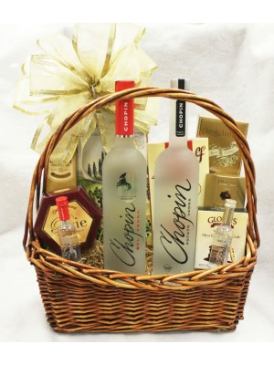13-BH18 Two Bottle Vodka Basket