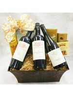 5-BH18 Tortoise Creek Three Bottle Wine Basket