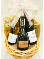 6-BH18 Three Bottle French Wine Basket