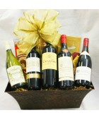 8-BH18 Five Bottle French Wine Basket