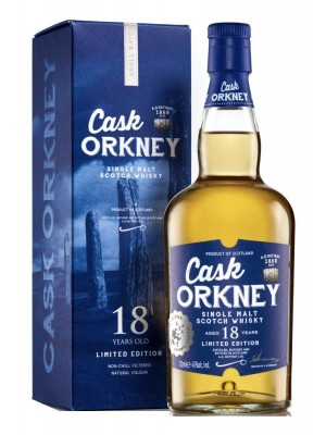 Cask Orkney 18yr Single Malt 46% ABV 750ml
