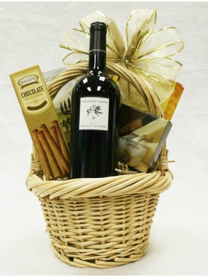 B-1 Single Bottle Cabernet Sauvignon Basket