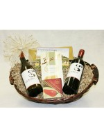B-3 Two Bottle Red and White Wine Basket