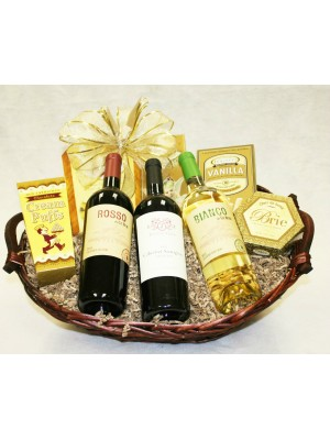 B-4 Three Bottle Wine Basket