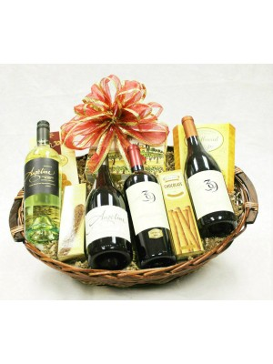 B-5 Four Bottle Wine Basket