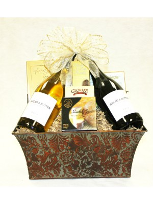 B-6 Two Bottle Standing Wine Basket