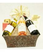 B-8 Three Bottle Standing Wine Basket