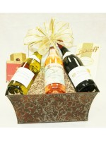 B-8 Three Bottle Standing Wine Basket