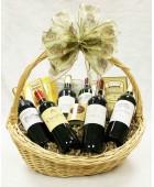 B-9 Six Bottle French Wine Basket
