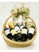B-9 Six Bottle French Wine Basket