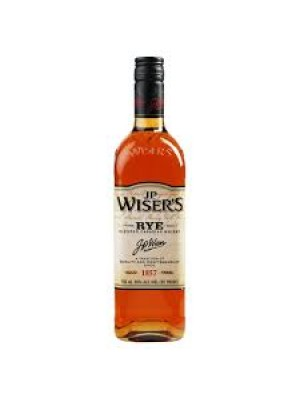J.P. Wiser's Rye Blended Canadian Whisky 40% ABV 750ml