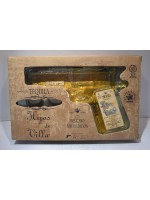 Hijos de Villa Tequila Reposado Pistol shaped with 2 glasses 40% ABV 200ml