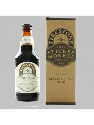 Firestone Walker Stickee Monkee 2017 Barrel Aged Central Coast Quad 12oz 12.5% ABV