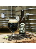 Dogfish Head Craft Brewery Oak Aged Vanilla World Wide Stout 12oz 16% ABV