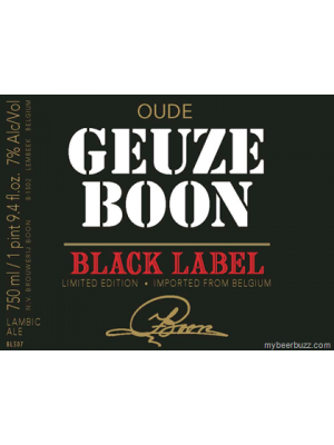 Boon Black Label Geuze 750ml