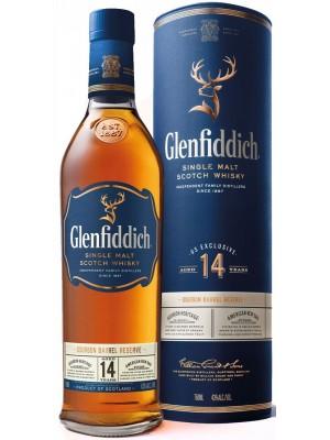 Glenfiddich 14yr Bourbon Barrel Reserve Single Malt 43% ABV 750ml