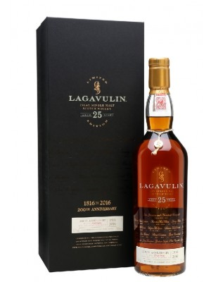 Lagavulin 25 Year Old Single Malt Scotch Whisky, Islay, Scotland
