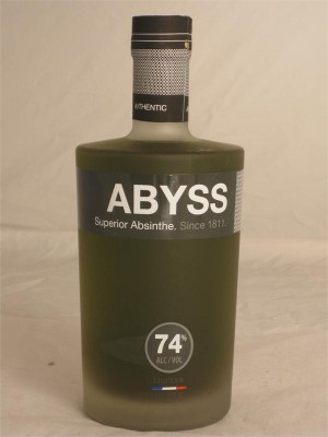 Abyss Superioir Absinthe Liqueur France74% ABV (Are you kidding me?) 750ml
