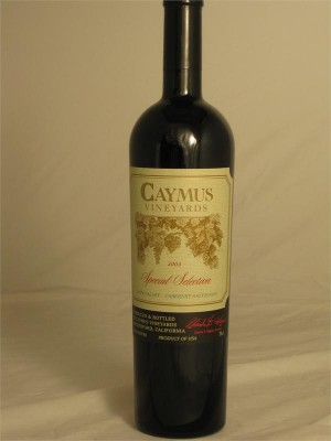 Caymus Cabernet Sauvignon Special Selection Napa Valley Rutherford  12 14.5% ABV 750ml
