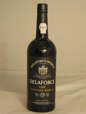 Delaforce Oporto 2000 Vintage Porto CD Vintners Soc Vitivinicola SA Vila Nova de Gaia Portugal 750ml