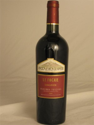 Rocca di Monte Massi Le Focaie Sangiovesse Maremma IGT 2009 13.5% ABV 750ml