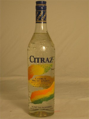Citraz Citrus Fruit Distilled Spirit All Natural Ingredients 30% ABV 750ml