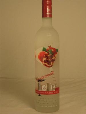 Three Olives Pomegranate Flavored Vodka 35% ABV 750ml
