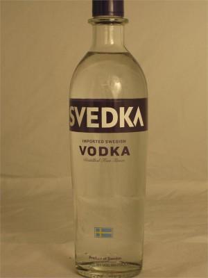 Svedka Imported Swedish Vodka Distilled Five Times 40% ABV 750ml