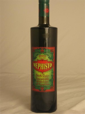 Mephisto Absinthe Classique Neutral Spirits Distilled with Herbs and Colored with Grand Wormwood 65% ABV 750ml