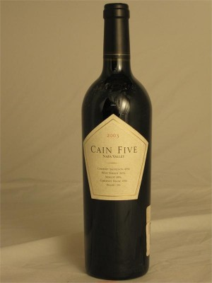 Cain Five  Napa Valley 2003 14.4% ABV 750ml