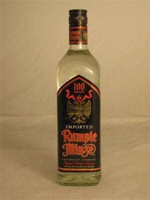 Rumple Minze  Peppermint Schnapps Liqueur Canada  50% ABV 750ml