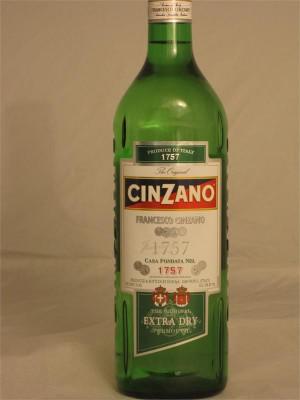 Cinzano Extra Dry Vermouth Italy 18% ABV 750ml