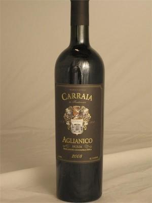 Carraia Aglianico 2008 Sicilia IGT Campana Gello Pi Itlay 13.5% ABV 750ml