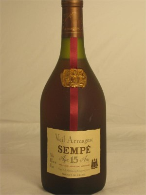 Sempe Armagnac 15 Years Old 40% ABV 750ml