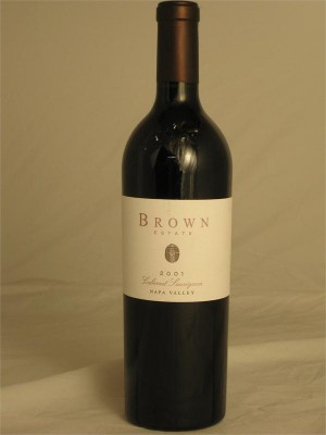 Brown Estate Cabernet Sauvignon 2001 Napa Valley 14.2% ABV 750ml