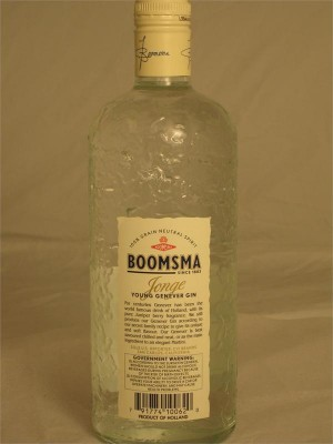 Boomsma Jonge Fine Young Genever Gin 750ml Holland