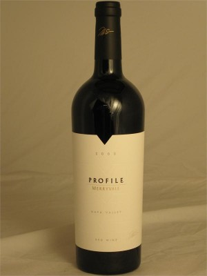 Merryvale Profile Napa Valley 2000 13% ABV 750ml