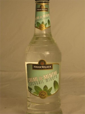 Hiram Walker White Creme de Menthe with no Color Added 15% ABV 750ml